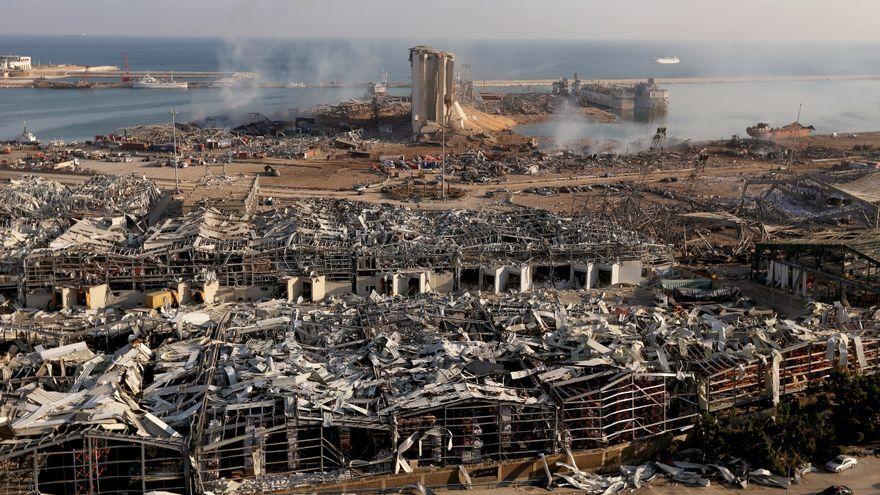 L'explosió al port de Beirut el 4 d'agost de 2020 va deixar una imatge desoladora