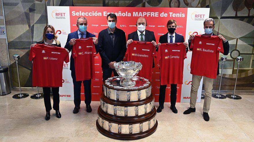 El Consell Superior d'Esports presenta els tenistes que representaran Espanya en la Copa Davis