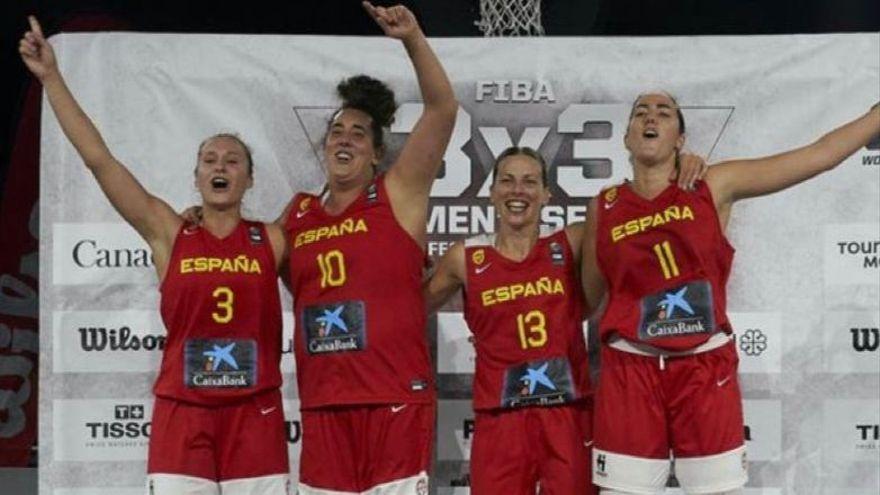 La selecció espanyola de 3x3 guanya la Copa d'Europa