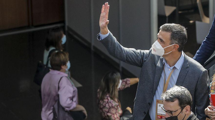 Pedro Sánchez en el Congrés Federal del PSOE, que s'ha celebrat a València aquest cap de setmana
