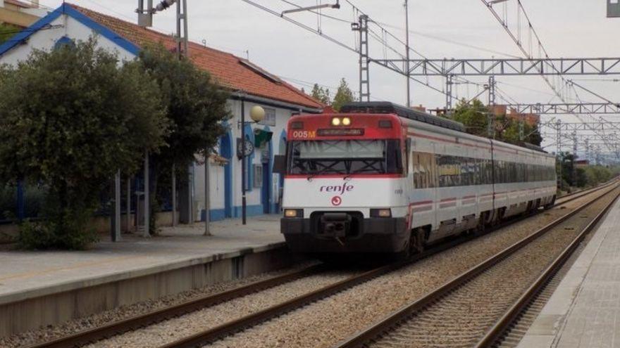 Tren de rodalia del nucli de València