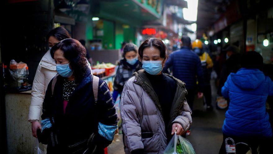 Voltants d'un mercat de la ciutat xinesa de Wuhan