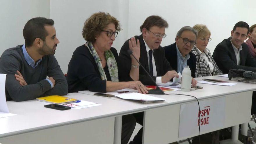 Participants en la Comissió Executiva d'aquesta vesprada a València