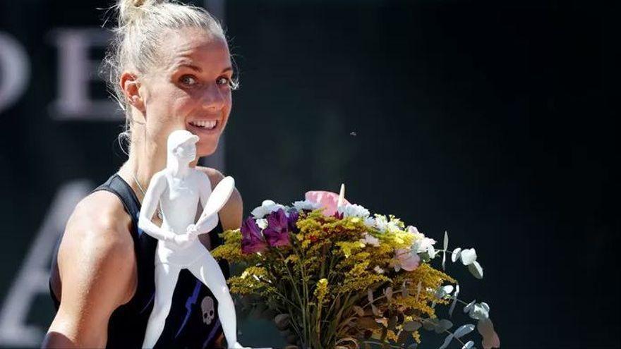 Arantxa Rus, amb el trofeu de campiona