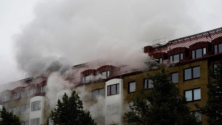 Explosió en un edifici d'apartaments a Göteborg, Suècia