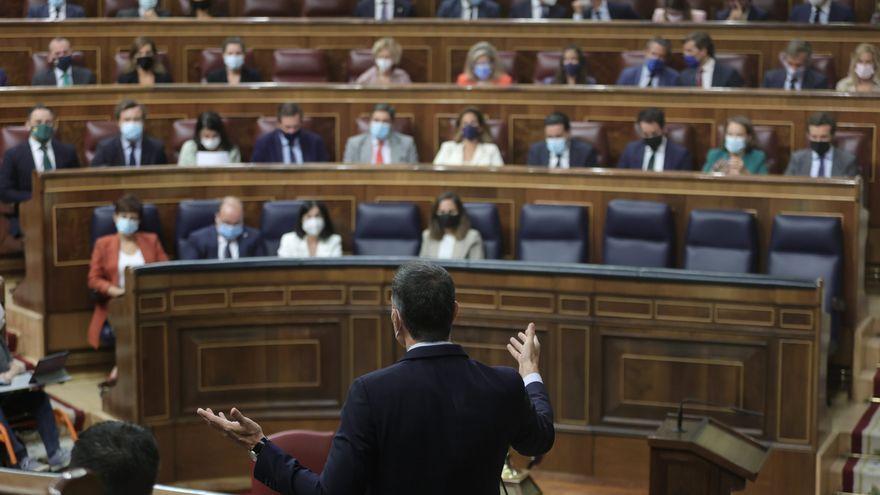 El president del govern espanyol, Pedro Sánchez, intervé en la sessió de control al govern al Congrés dels Diputats