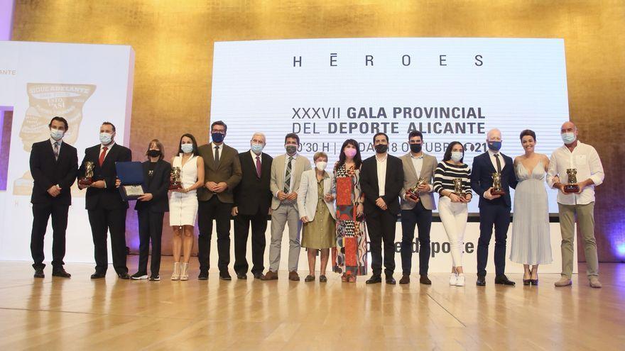 Premiats en la gala de l'esport d'Alacant