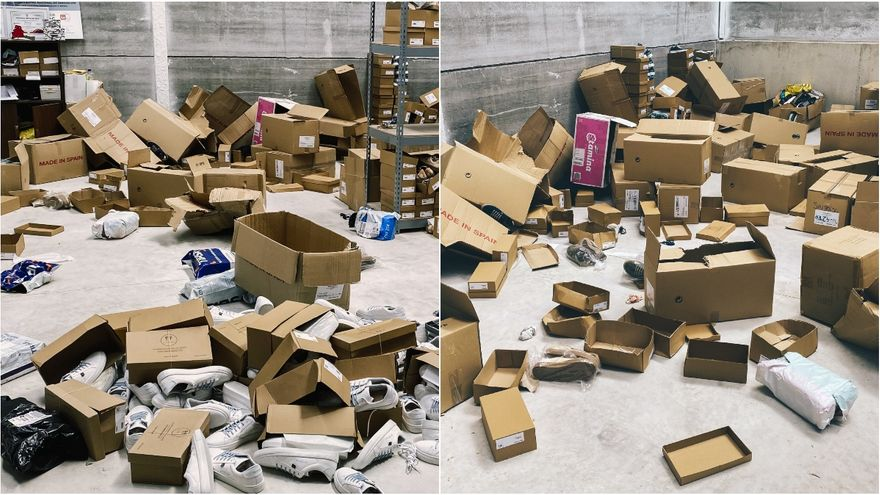 Imatges del robatori al magatzem de Timpers