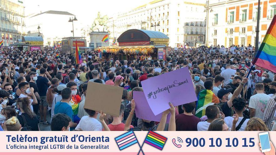 Imatges de la manifestació en suport de Samuel, assassinat en un crim homòfob a Galícia