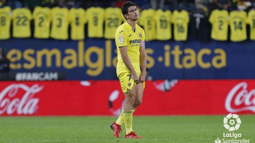Gerard Moreno es lamenta després del segon gol d'Osasuna