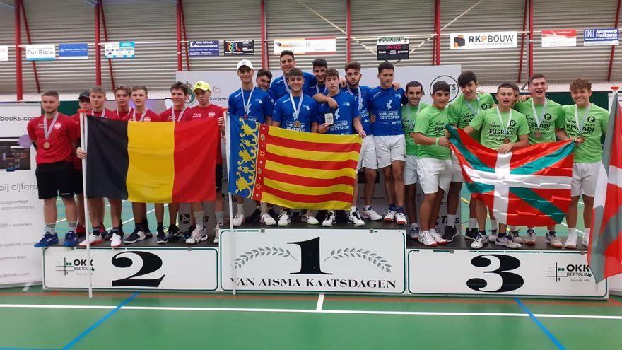 Pòdium complet en la modalitat de joc internacional en l'Europeu de Joves
