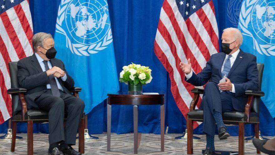 António Guterres conversa amb Joe Biden a la seu de l'ONU a Nova York