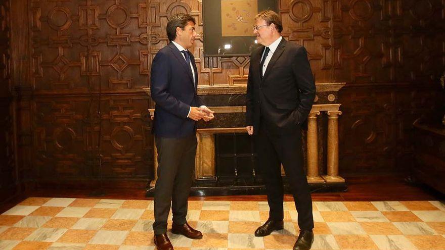 Imatge d'arxiu d'una reunió entre Mazón i Puig
