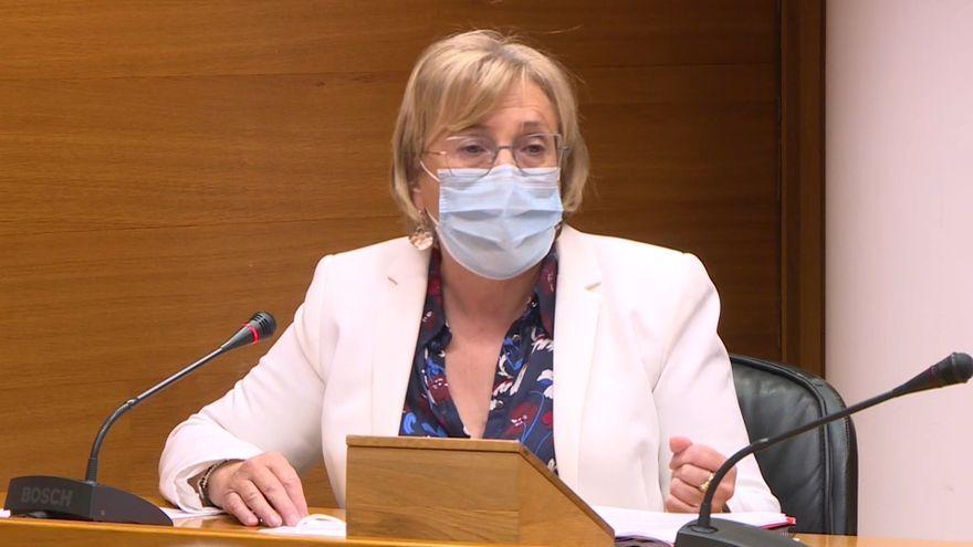 Imatge d'arxiu d'Ana Barceló en roda de premsa