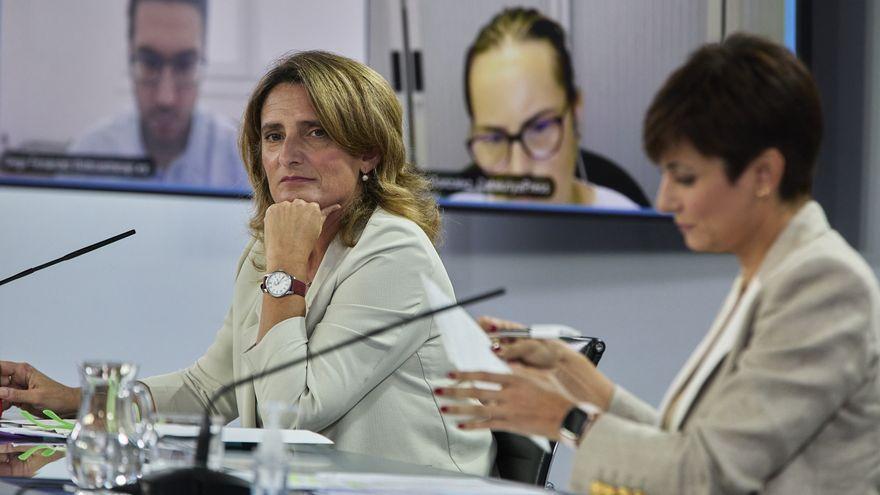 Ribera i Rodríguez,  en la roda de premsa posterior al Consell de Ministres celebrat a La Moncloa