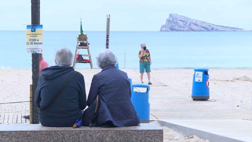Turistes a Benidorm, aquest dimarts