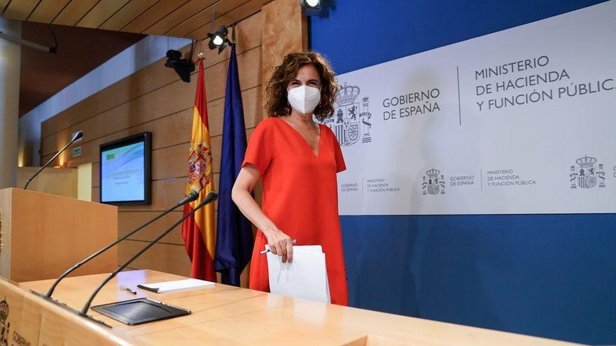 La ministra d'Hisenda, María Jesús Montero, en la roda de premsa posterior al Consell de Política Fiscal i Financera del passat dimecres