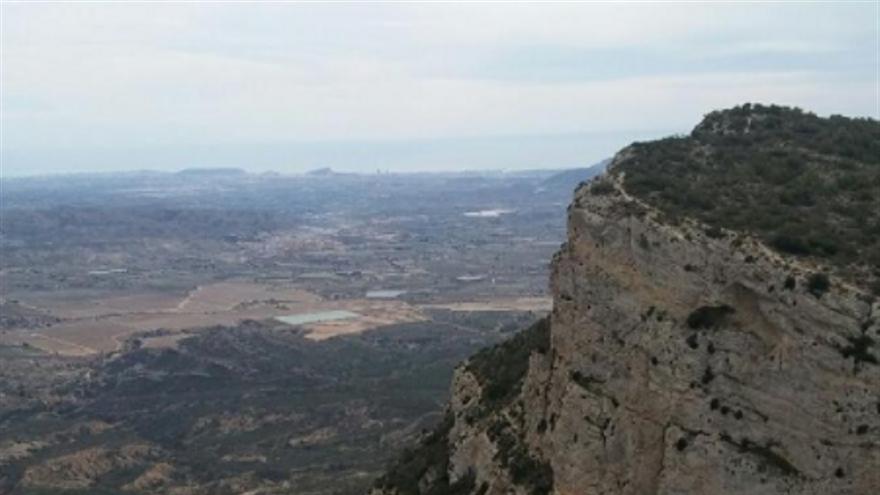 Imatge de la zona coneguda com la pujada del Cid, a Petrer