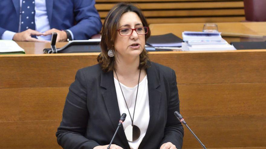 Imatge d'arxiu de la consellera Rosa Pérez Garijo durant una intervenció a les Corts
