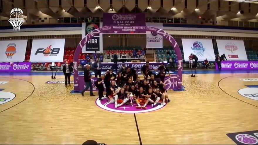 Imatge de la victòria del València Basket, de l'Eurocup Women
