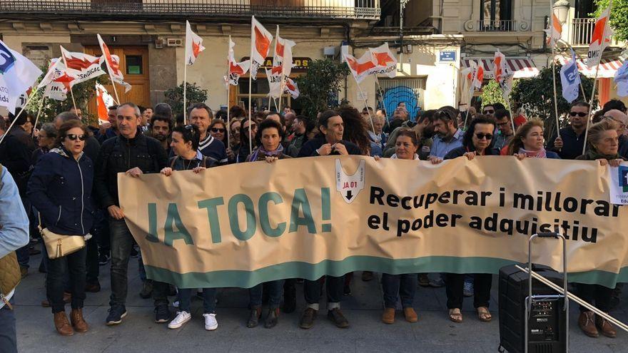 Imatge d'arxiu d'una concentració de la Intersindical Valenciana en 2019