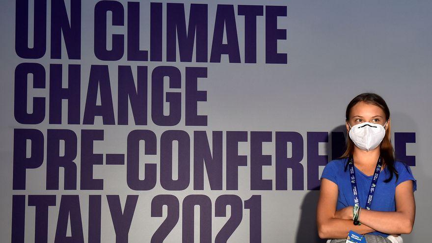 L'activista climàtica sueca Greta Thunberg assisteix a la conferència Youth4Climate prèvia a la COP26 a Milà, Itàlia