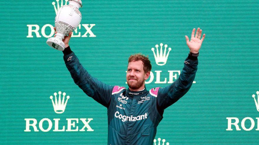 Vettel s'havia pujat al pòdium i posteriorment ha sigut sancionat