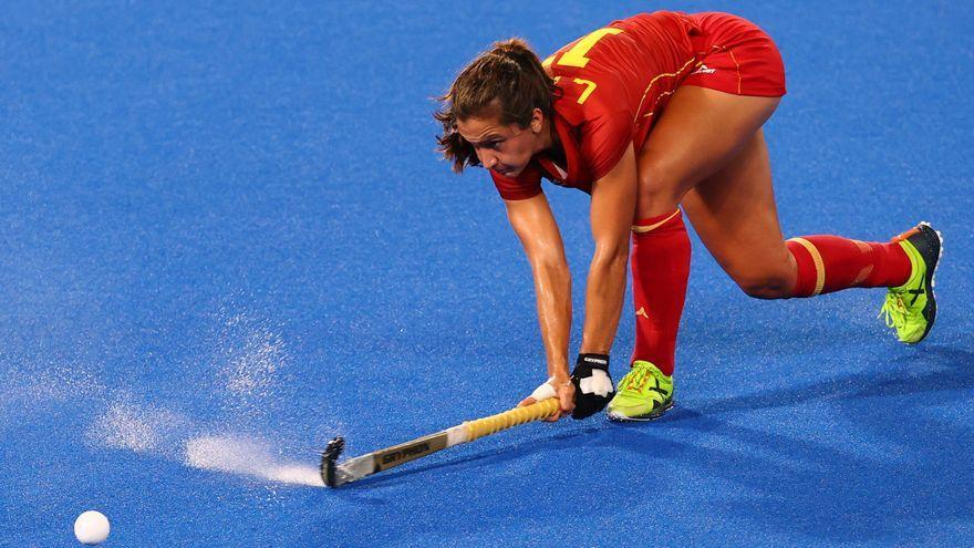 La valenciana Lola Riera, durant el partit contra la Gran Bretanya
