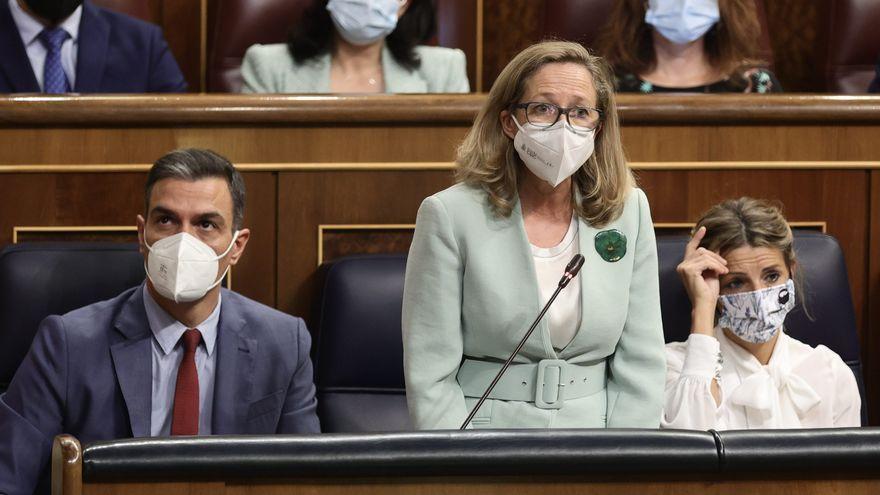 Sánchez, Calviño i Díaz