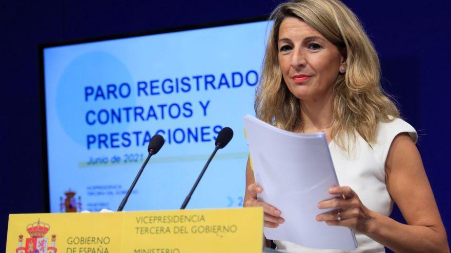 La vicepresidenta tercera i ministra de Treball, Yolanda Díaz