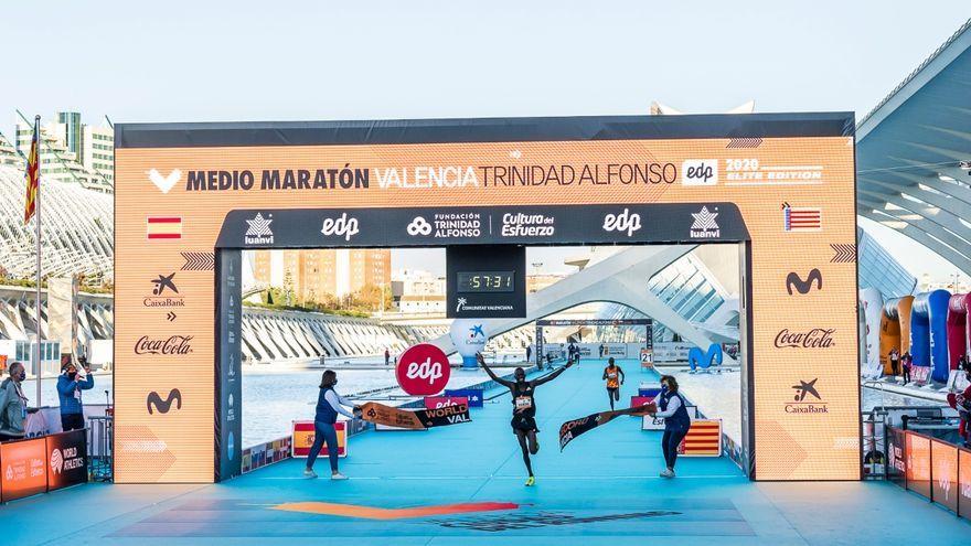 Kibiwott Kandie aconsegueix a València el rècord en mitja marató