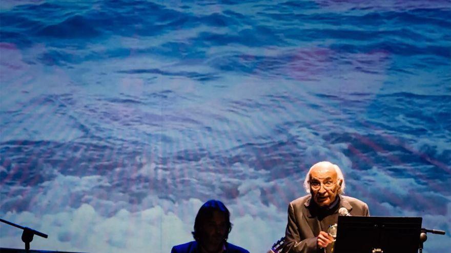 Francisco Brines en una edició del Festival de Poesia d'Oliva