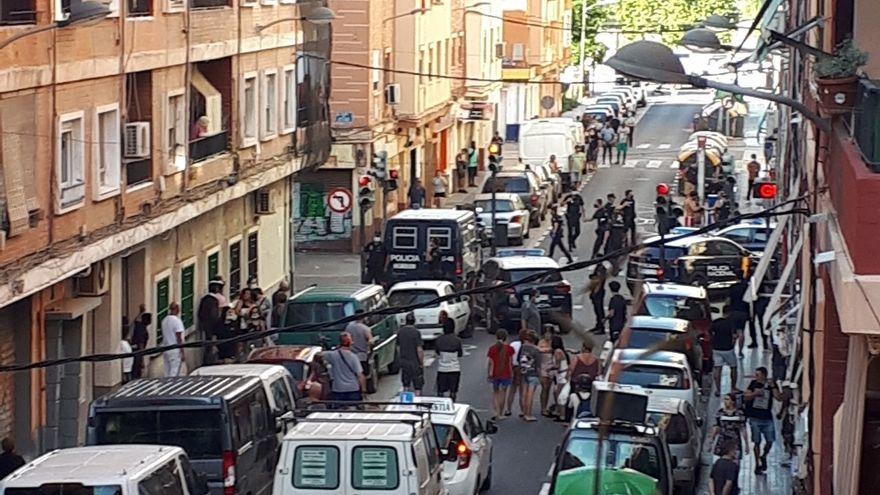 Imatge d'arxiu d'una baralla recent al barri dels Orriols, a València