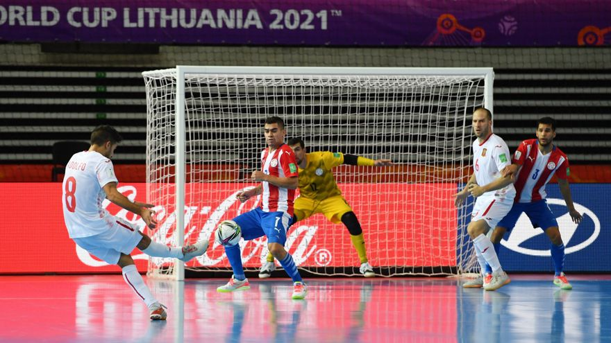 La selecció espanyola de futbol sala guanya el Paraguai en el debut en el Mundial