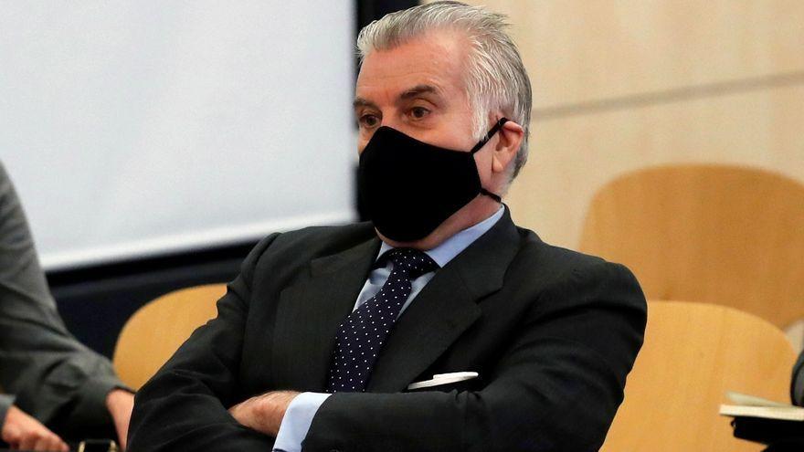 L'extresorer del PP Luis Bárcenas durant el juí per la presumpta caixa B del partit
