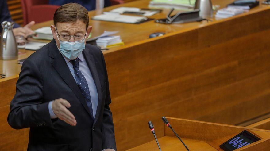 El president de la Generalitat, Ximo Puig, durant una intervenció anterior a les Corts