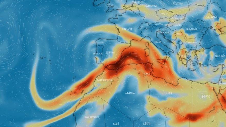 Mapa de l'evolució de l'SO2 a Europa