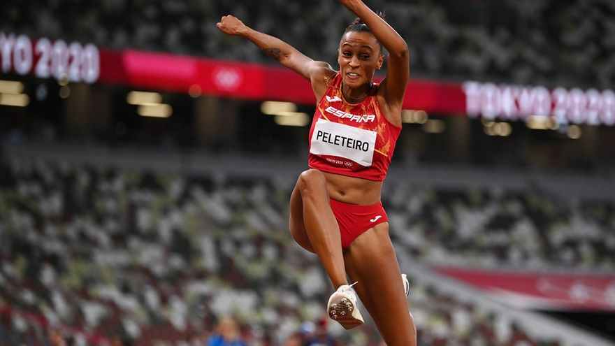 Ana Peleteiro durant les Olimpíades de Tòquio 2020