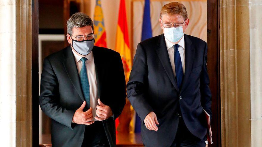 El ministre Escrivá, responsable d'Inclusió, i el president Puig, president de la Generalitat