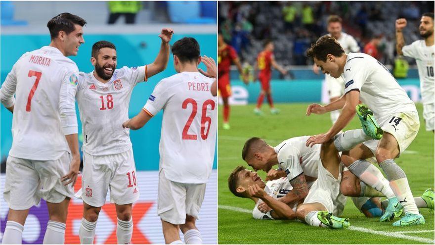 Espanya i Itàlia juguen la primera de les semifinals de l'Eurocopa 2020