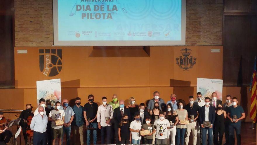 Premiats i premiades en el Dia de la Pilota