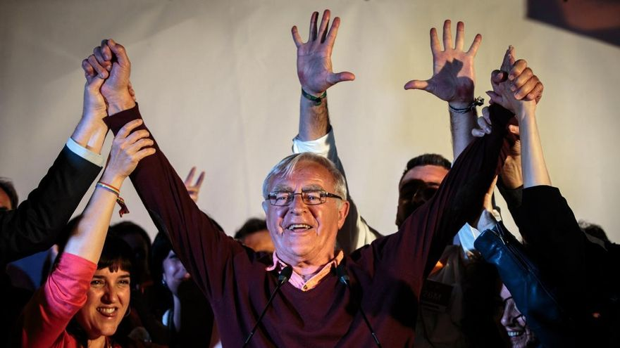 Imatge d'arxiu de Joan Ribó quan va guanyar les eleccions