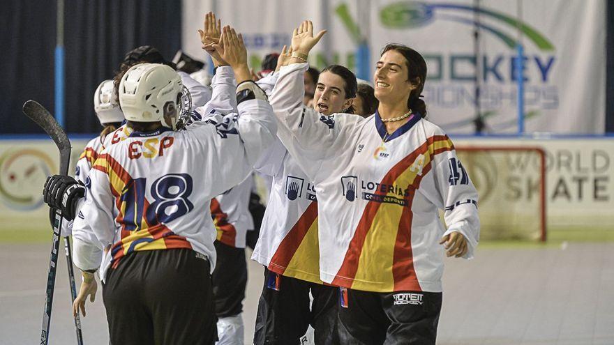 Les jugadores de la selecció d'hoquei patins perden la final del campionat del món contra França