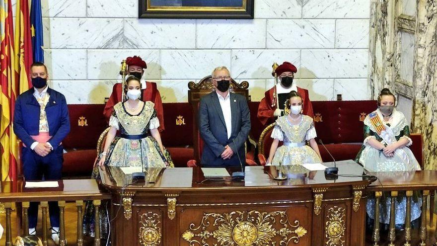 L'hemicicle de l'Ajuntament de València en un moment de la proclamació