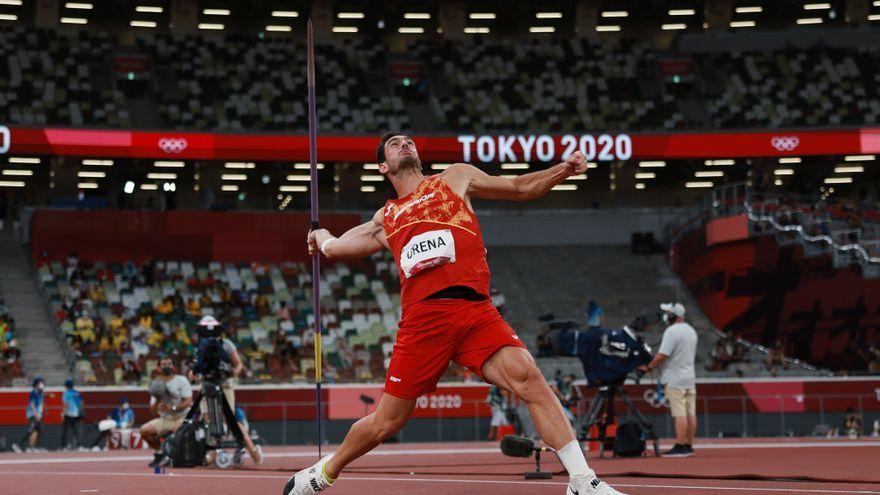 L'onilenc Jorge Ureña, durant el llançament de javelina