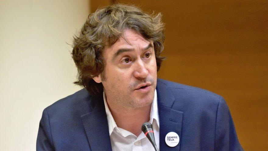 El director general de Política Lingüística, Ruben Trenzano, durant una compareixença, en una imatge d'arxiu