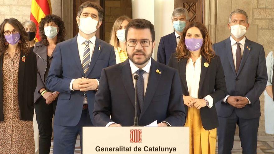 El president de la Generalitat de Catalunya, Pere Aragonès