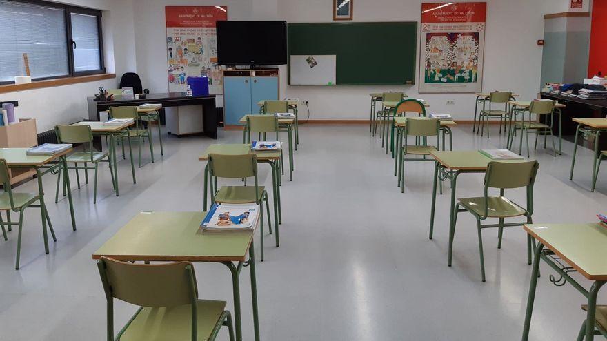 Una classe d'un centre educatiu de València en una imatge d'arxiu