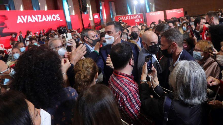 El secretari general del PSOE, Pedro Sánchez, aquest diumenge a Lleó