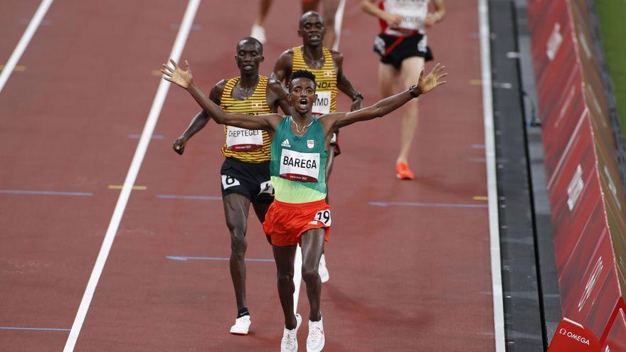 Barega ha sigut el primer a arribar a meta en la final de 10.000 metres